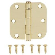 ProSource LR-701-PS Door Hinge 3 By 3 Inch 5/8 Radius Polished Brass