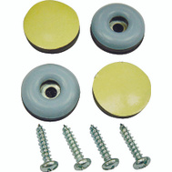 ProSource FE-50107-PS Furniture Slide Glides With Screws 7/8 Inch 4 Pack