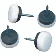 ProSource FE-S517-PS Cushioned Nail-On Furniture Slide Glides 7/8 Inch 4 Pack