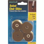 ProSource FE-51144-PS Glide Swivel Chair 7/8 Inch Brass 4 Pack