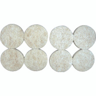 ProSource FE-S101-PS Pads Round Felt Heavy Duty 1-1/2 Inch Beige 8 Pack