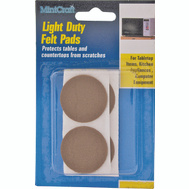 ProSource FE-50229-PS Pad Felt Light Duty Round 1/2 Inch Brown 24 Pack