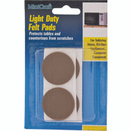 ProSource FE-50220-PS Pad Felt Light Duty Round 7/8 Inch Brown 12 Pack