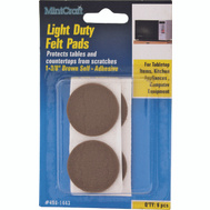 ProSource FE-50221-PS Pad Felt Light Duty Round 1-3/8 Inch Brown 6 Pack