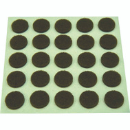 ProSource FE-S302-PS Pad Felt Light Duty Round 3/8 Inch Brown 75 Pack