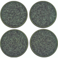 ProSource FE-50510-PS Carpeted Cups Round 1-3/4 Inch Brown 4 Pack