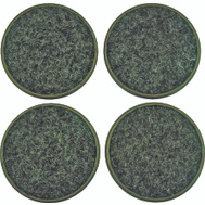 ProSource FE-S701-PS Carpeted Cups Round 2-3/8 Inch Brown 4 Pack