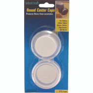 ProSource FE-50840-PS Cups Round 2 Inch With Felt Clear 4 Pack