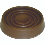 ProSource FE-S708-PS Cup Caster Round Rubber 1-1/2 Inch Brown 4 Pack