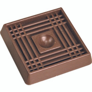 ProSource FE-S711-PS Cup Square Rubber 2 Inch Brown 4 Pack