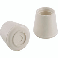 ProSource FE-50641-PS Rubber Leg Tips 1/2 Inch White 4 Pack