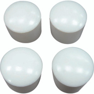 ProSource FE-50616-PS Plastic Leg Tips 1-1/4 Inch White 4 Pack