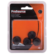 ProSource FE-50660-PS Bumper Screw Rubber 7/8 Inch Black 4 Pack