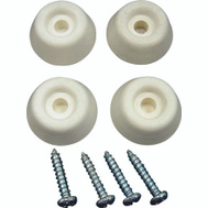 ProSource FE-S518-PS Bumper Screw Rubber 7/8 Inch White 4 Pack