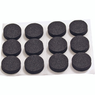 ProSource FE-50720-PS Non-Slip Foam Pads 3/4 Inch 19Mm Black 12 Pack