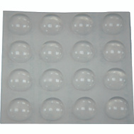 ProSource FE-S402-PS Dome Self-Adhesive Furniture Bumper Disks 3/8 Inch Round Clear Plastic 16 Pack
