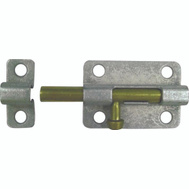 ProSource 20473MGS-PS Barrel Bolt 4 Inch Galvanized Steel With Brass Bolt