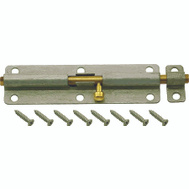 ProSource CL-702-PS Barrel Bolt 6 Inch Galvanized Steel With Brass Bolt