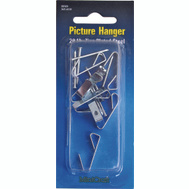 ProSource PH-121020-PS Picture Hanger With Nail 20 Pound Zinc Plated 8 Pack