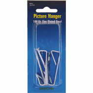 ProSource PH-121100-PS Picture Hanger With Nail 100 Pound Zinc Plated 2 Pack
