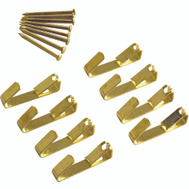 ProSource PH-122312-PS Picture Hanger 10 Pound Polished Brass 8 Pack