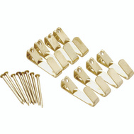 ProSource PH-122308-PS Picture Hanger 20 Pound Polished Brass 8 Pack