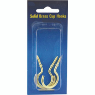 ProSource PH-122314-PS Cup Hooks 7/8 Inch Solid Brass 8 Pack