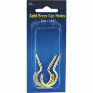 ProSource PH-122315-PS Cup Hooks 1-1/4 Inch Solid Brass 3 Pack
