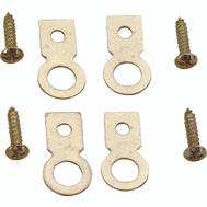 ProSource PH-122225-PS Ring Hanger Small Flat Brass 4 Pack