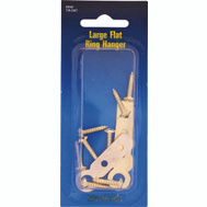 ProSource PH-122227-PS Ring Hanger Large Flat Polished Brass 4 Pack