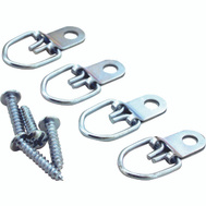 ProSource PH-122317-PS Hanger D-Ring Small Zinc Plated 4 Pack