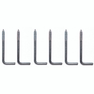 ProSource LR-398-PS Square Screw Hook 1-7/8 Inch Zinc Plated 6 Pack