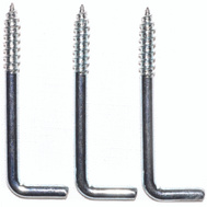 ProSource LR-396-PS Square Screw Hook 2-5/8 Inch Zinc Plated 3 Pack