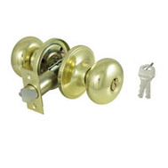 ProSource TF700V-PS Baron Keyed Entry Lockset 6 Way Latch Polished Brass KA3