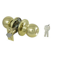 ProSource T3700V-PS Saturn Keyed Entry Lockset 6 Way Latch Polished Brass KA3