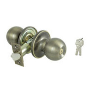 ProSource T3800V-PS Saturn Keyed Entry Lockset 6 Way Latch Antique Brass KA3