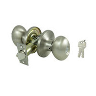 ProSource TYLP00V-PS Egg Entry Lockset 6 Way Latch Satin Nickel