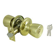 ProSource TS700V-PS Gallo Entry Lockset 6 Way Latch Polished Brass KA3