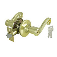 ProSource L6700V-PS Savannah Entry Leverset Reversible 6 Way Latch Polished Brass KA3