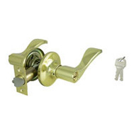 ProSource LYE700V-PS Naples Entry Leverset 6 Way Latch Polished Brass KA3