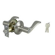 ProSource LYEX200V-PS Naples Entry Leverset 6 Way Latch Satin Nickel KA3