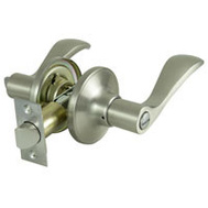 ProSource LYEX201V-PS Naples Privacy Leverset 6 Way Latch Satin Nickel