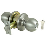 ProSource C360BV-PS Commercial Ball Entry Knobset 6 Pin Grade 2 Stainless Steel Keyed Different