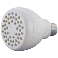 Boston Harbor B11041WH Showerhead Fx/Mt W/Rub Tip Wht