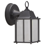Boston Harbor 0038-WD-BK Lantern Wall Ld Outdoor Blk