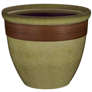 Landscapers Select PT-S015 Planter Tall Wave Resin 14-3/4 Inch