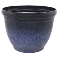 Landscapers Select PT-S028 Resin Planter Blue Stain Finish 22 Inch