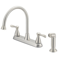 Boston Harbor F8210001NP Faucet Kitchen 2-Handle Ss 8In