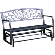 Seasonal Trends XG239 Glider Bench Decorative Steel