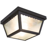 Boston Harbor 991-070082BK Light Flush Mount Black 2-Bulb